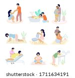 Birth Positions Set  Vector...