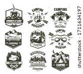 camping vintage logo  badge ... | Shutterstock .eps vector #1711634197