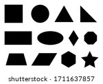 set of simple geometric shapes... | Shutterstock . vector #1711637857