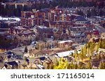 Breckenridge City Closeup. Breckenridge - Summit County, Colorado, United States. Colorado Photo Collection. - stock photo