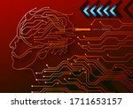 human big data visualization.... | Shutterstock .eps vector #1711653157