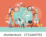 male and female characters... | Shutterstock .eps vector #1711664701
