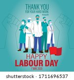 Happy Labour Day 2020 Vector....