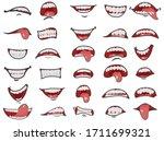 cartoon mouth set. cartoon...   Shutterstock .eps vector #1711699321