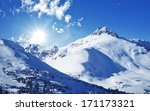 Winter Mountains. Sunny Winter Day in Colorado, United States. Rocky Mountains Landscape. - stock photo