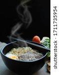 Bowl Of Hot Instant Noodle ...