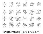 black line symbols sparkles...   Shutterstock .eps vector #1711737574