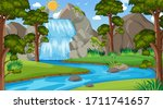 background scene with many... | Shutterstock .eps vector #1711741657