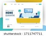 website landing page idea for... | Shutterstock .eps vector #1711747711