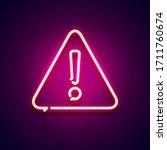 vector illustration neon... | Shutterstock .eps vector #1711760674