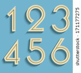 vector retro numbers.... | Shutterstock .eps vector #171177275