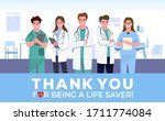 thank you doctor and nurses and ... | Shutterstock .eps vector #1711774084