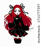 Beautiful Gothic Doll In...
