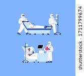 professional doctor wearing... | Shutterstock .eps vector #1711799674