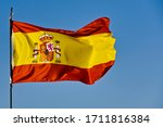 Flag Of Spain Moved By The Wind