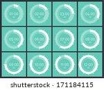 flat design clock   Shutterstock .eps vector #171184115