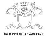 a coat of arms crest heraldic... | Shutterstock .eps vector #1711865524