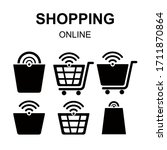 shopping flat icon  vector...