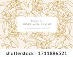 vintage card with jasmine... | Shutterstock .eps vector #1711886521