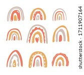 cute rainbow set in the... | Shutterstock .eps vector #1711907164