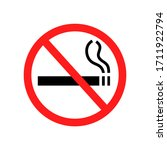 no smoking sign isolated on... | Shutterstock .eps vector #1711922794