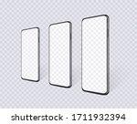 realistic smartphone set en... | Shutterstock .eps vector #1711932394