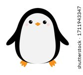 Penguin Bird Icon. Cute Cartoon ...