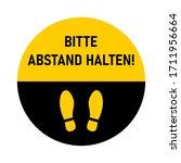 "bitte abstand halten  ""please...   Shutterstock .eps vector #1711956664"