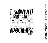 i survived toilet paper... | Shutterstock .eps vector #1711966774