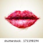 beautiful woman lips formed by...   Shutterstock .eps vector #171198194