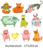 cute animals  vector set. to... | Shutterstock .eps vector #17120116