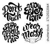 black outline quotes set about... | Shutterstock .eps vector #1712022064