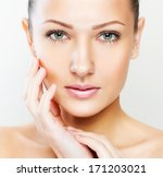 beautiful woman with perfect... | Shutterstock . vector #171203021