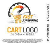 fast shopping concept logo... | Shutterstock .eps vector #1712037067