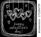 Vector Hearts  Frame Of Doodle...