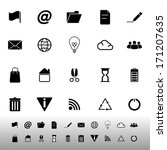 web and internet icons on white ... | Shutterstock .eps vector #171207635