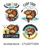 common carp emblems. common...   Shutterstock . vector #1712077204