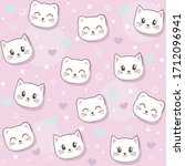 cute seamless pattern with... | Shutterstock .eps vector #1712096941