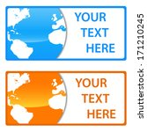 new globe card set with space... | Shutterstock . vector #171210245