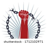 slavery theme illustration with ... | Shutterstock .eps vector #1712102971