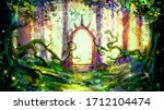 A Beautiful Magical Forest Wit...