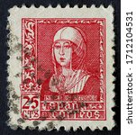 25 Cents Carmine Stamp Of The...