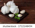 Horizontal View Of Some Garlic...