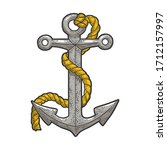 anchor and rope color sketch... | Shutterstock .eps vector #1712157997