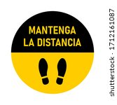 "mantenga la distancia  ""keep...   Shutterstock .eps vector #1712161087"