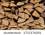 Texture Of Pine Firewood....