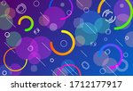 abstract blue purple gradient... | Shutterstock .eps vector #1712177917