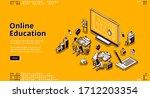 online education isometric... | Shutterstock .eps vector #1712203354