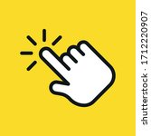 hand click icon. hand clicking. ... | Shutterstock .eps vector #1712220907