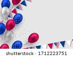 glossy balloons in colors of... | Shutterstock .eps vector #1712223751